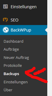 Wordpress Backup mit BackWPUp